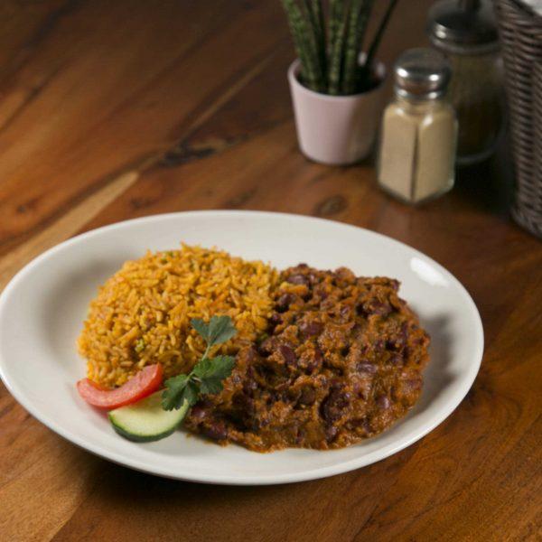 Jollof-Rice mit mit Kidney Bohnen